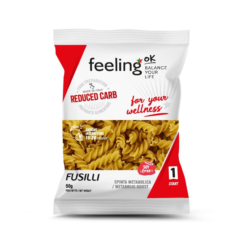 Paste Low-Carb Fusilli 50g (Faza 1) - FeelingOK