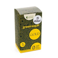 Indulcitor natural brun cu Stevia 25 stickuri - Green Sugar GOLD
