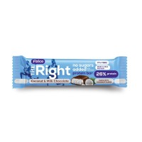 Baton proteic 26%, lapte si cocos 60g - The Right