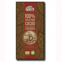 Ciocolata neagra Eco 100% cacao 100g - Chocolates Sole