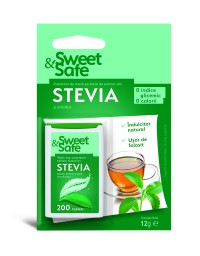 Indulcitor natural din Stevia 200 tablete - Sweet&Safe
